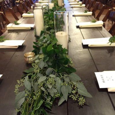 Lush Greenery Table Run