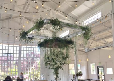 chandelier greenery